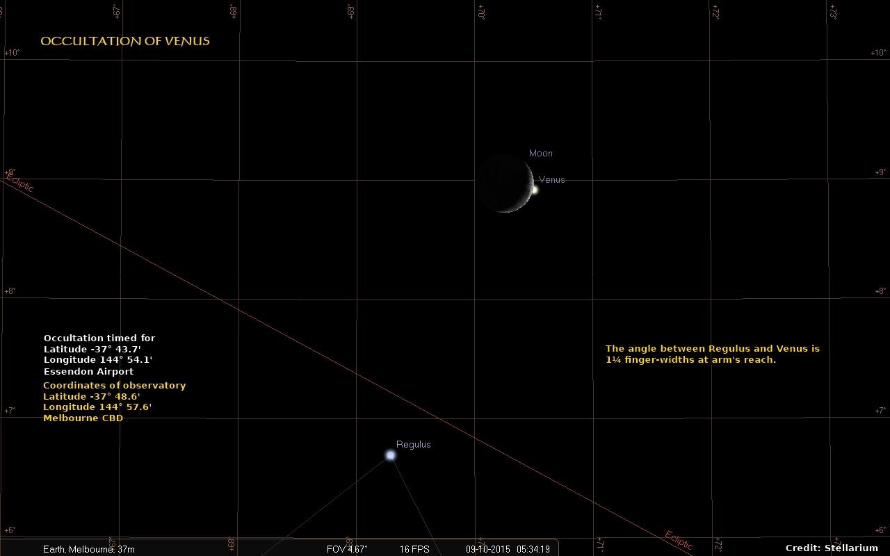 Occultation of Venus