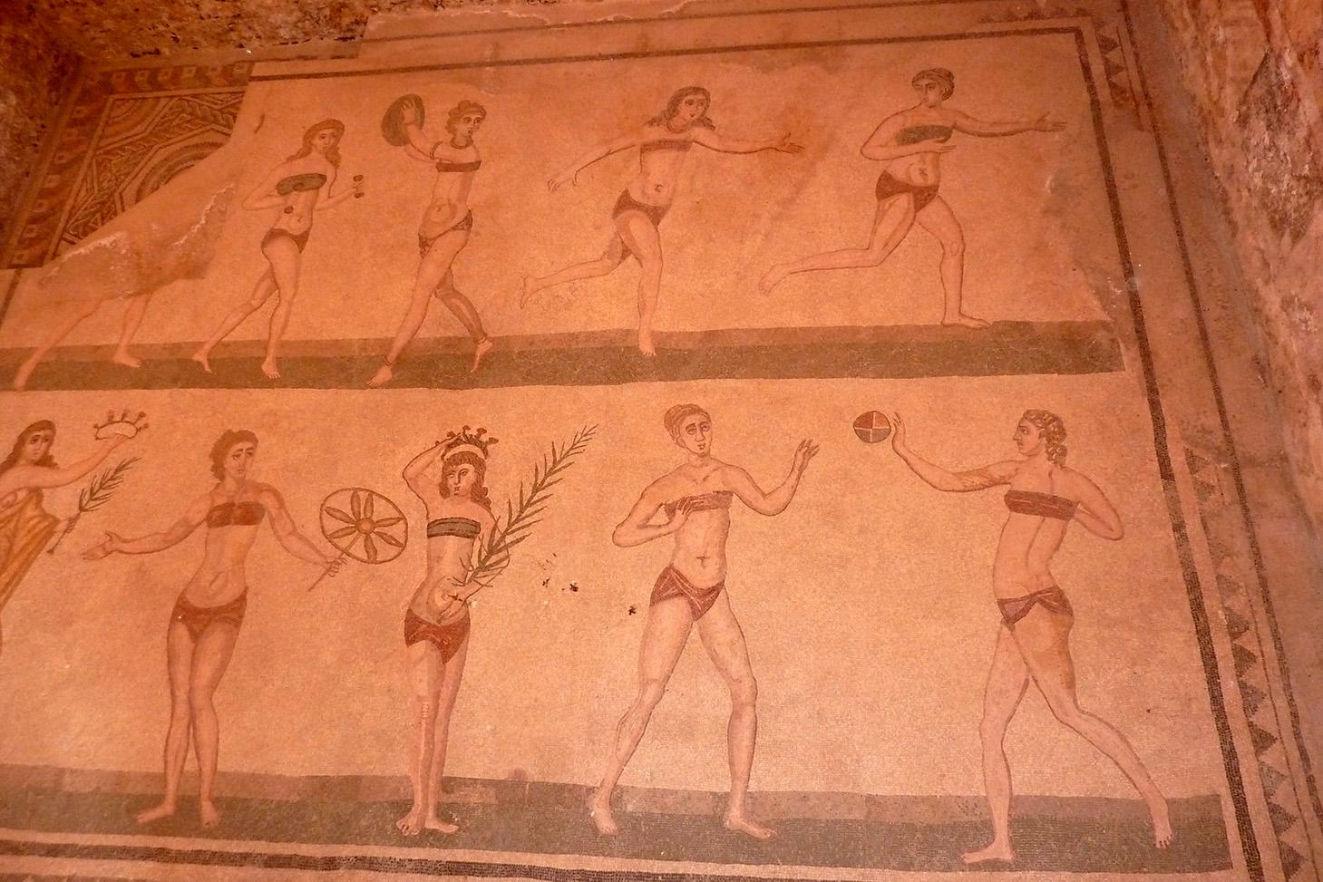 Sporting bikini girls