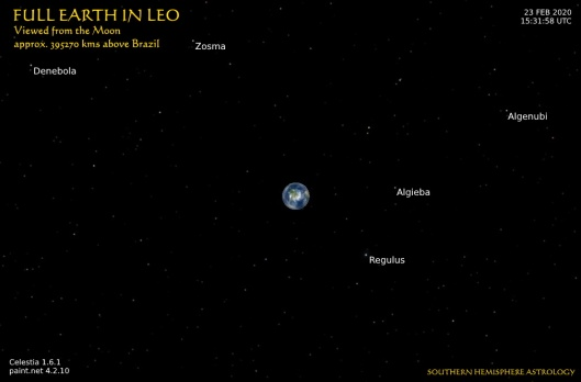 Aquarius New Full Earth in Leo