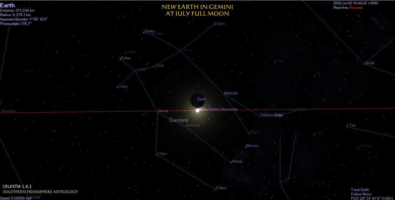Prodigal New Earth in Gemini
